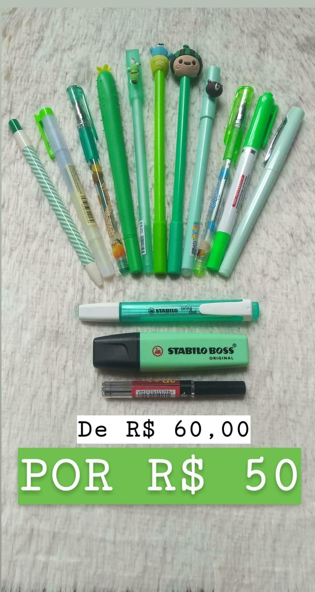 Material Escolar 2019 Colecao Verde Pastel Faber Castell Stabilo