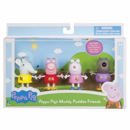 Peppa Pig Muddy Puddles Friends 4 Pack Pink Products In 2019