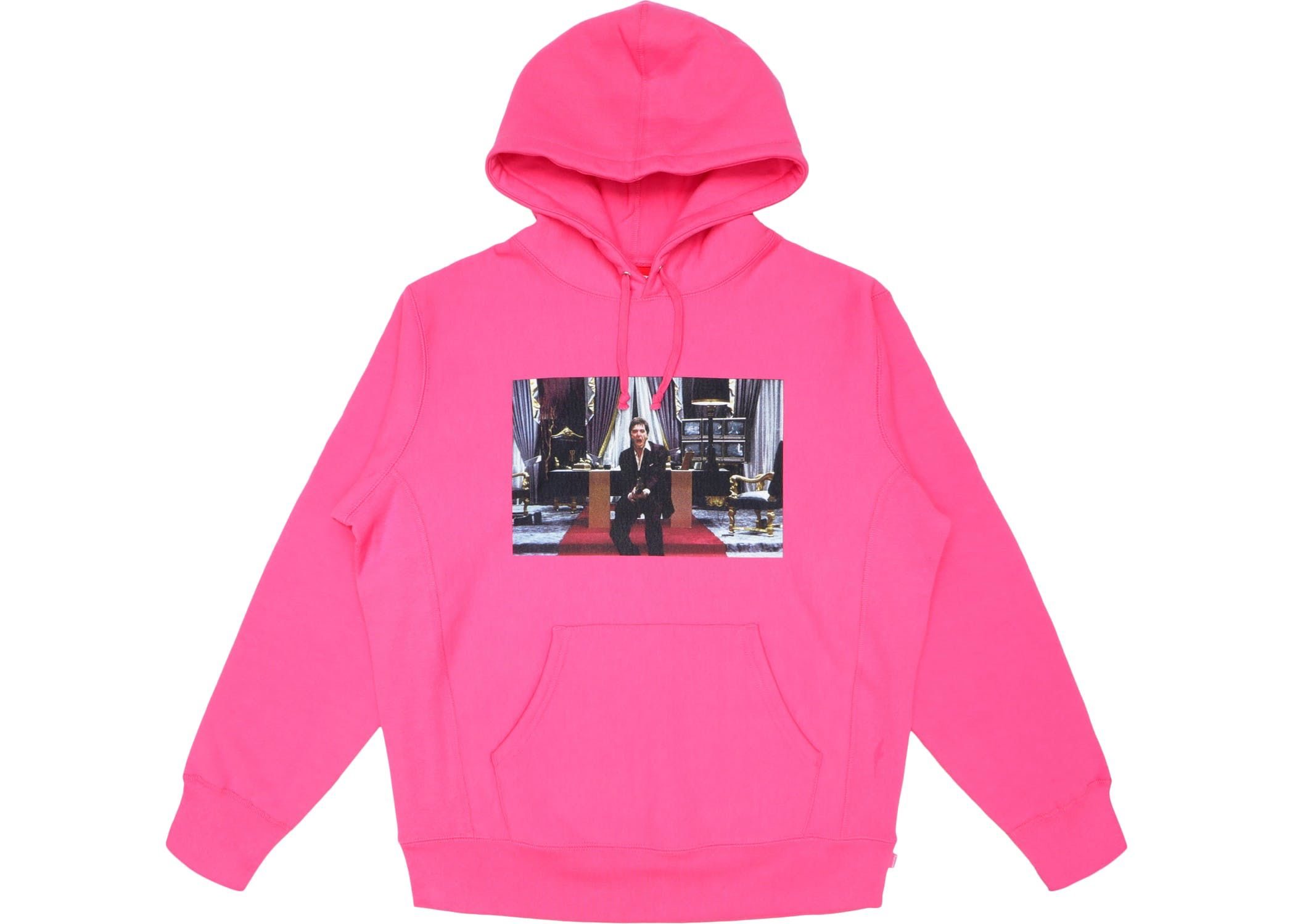 Check Out The Supreme Scarface Friend Hooded Sweatshirt Magenta Available On Stockx Sweatshirts Hooded Sweatshirts Black Sweatshirts [ 1500 x 2100 Pixel ]
