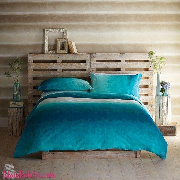 Cabeceira de cama feita de Pallet | Ideias para a casa | Pinterest ...