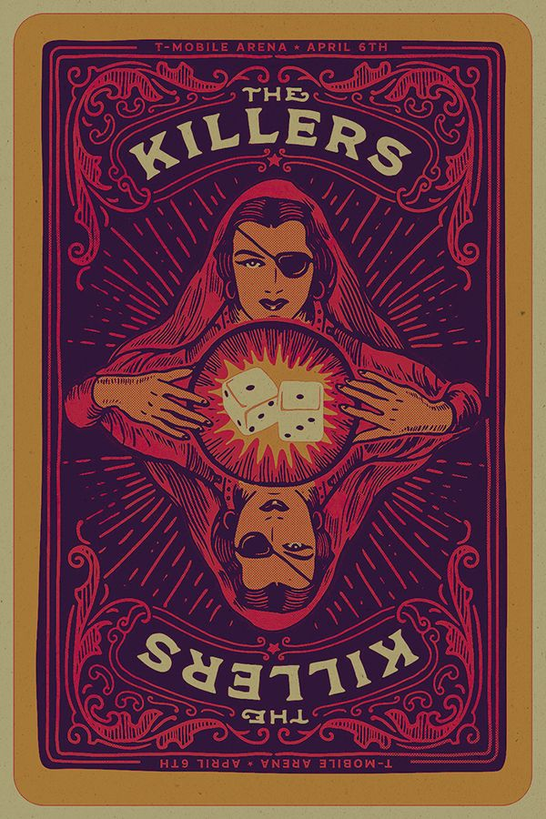 Conrad Garner Killers Vegas Poster Psychedelic Poster Concert
