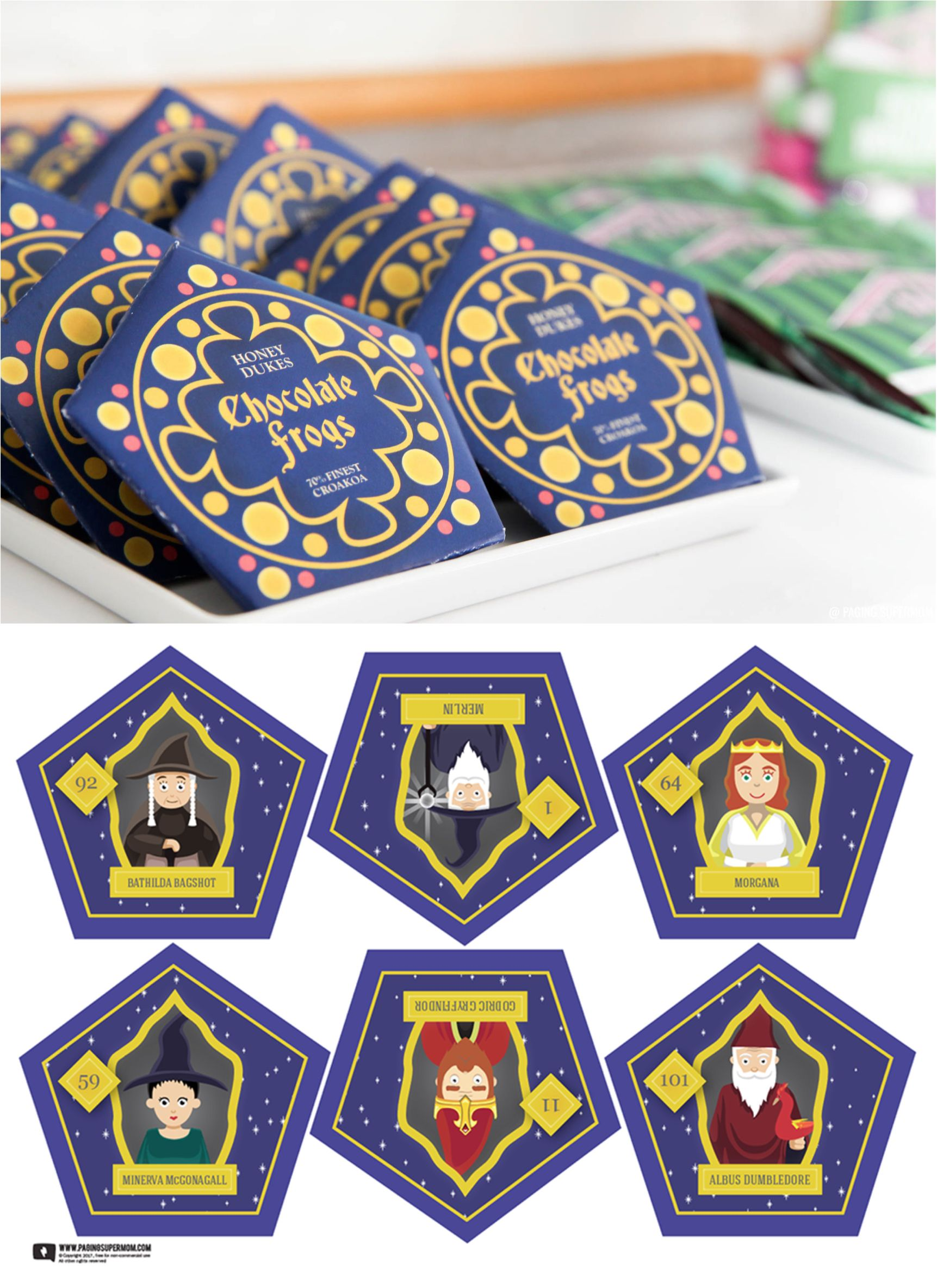 Harry Potter Chocolate Frogs - Free Printable Template for DIY ...
