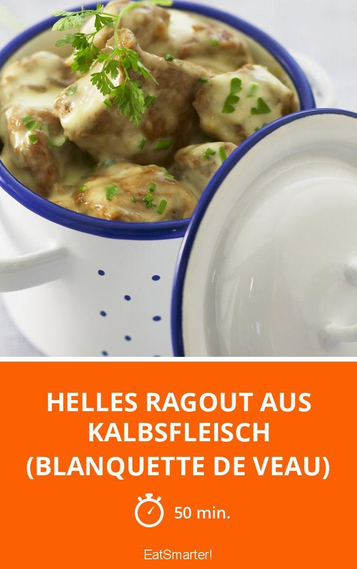 Helles Ragout aus Kalbsfleisch (Blanquette de veau
