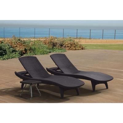 Keter Pacific Grey All Weather Adjustable Resin Patio