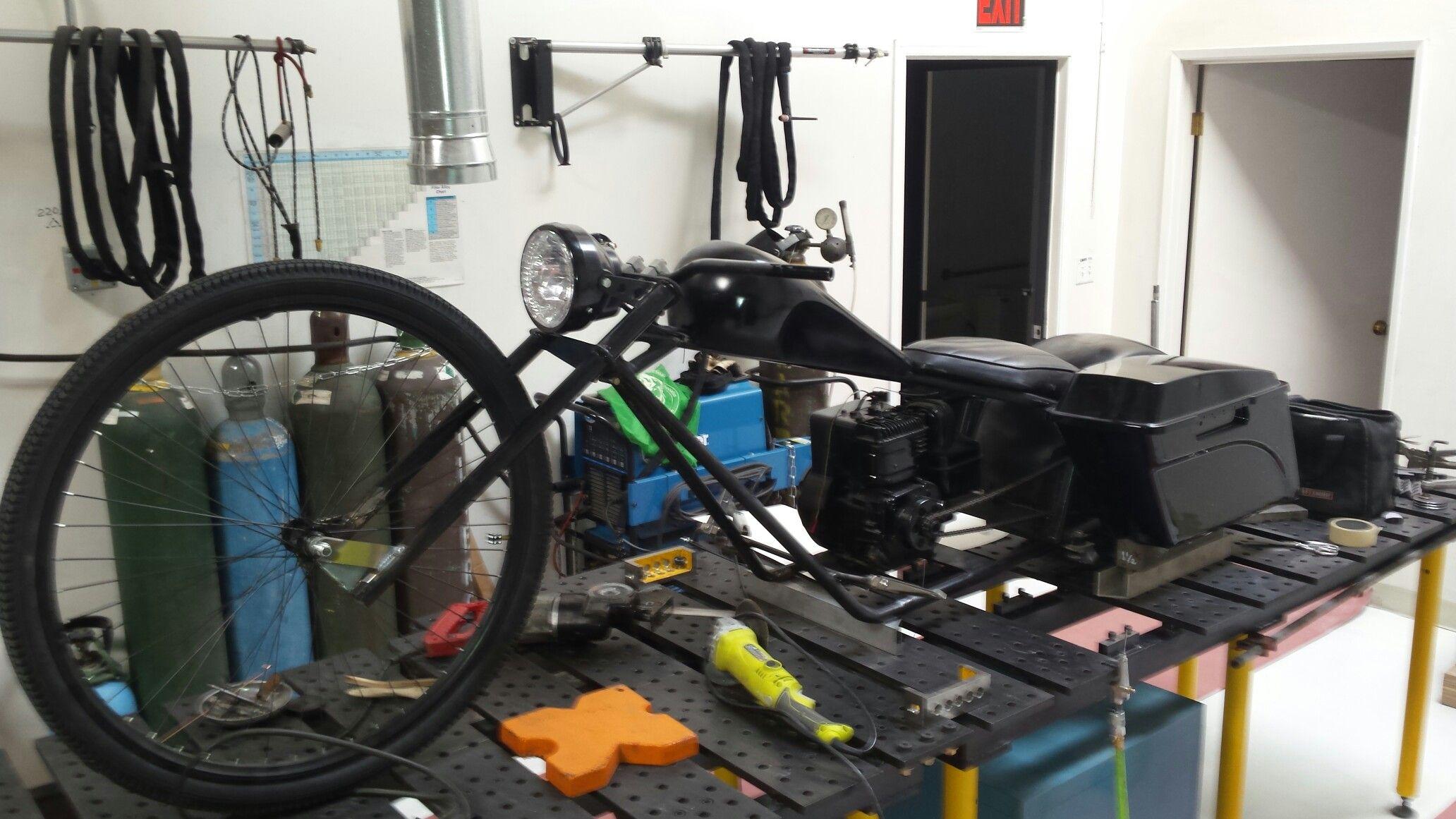 Prächtig Half bagger mini bike build | baggers | Mini bike, Bike, Treadmill @PI_92