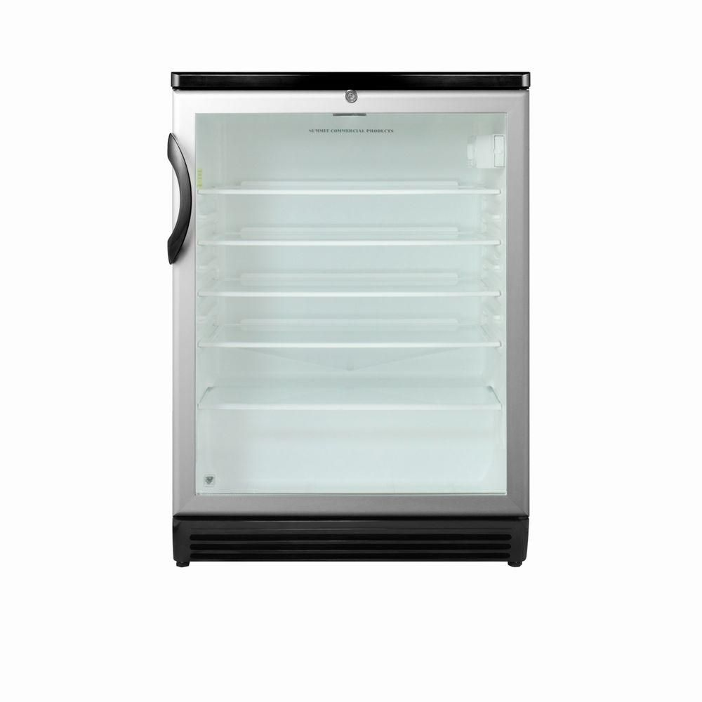 Summit Appliance 5.5 cu. ft. Glass Door Mini Refrigerator in Black ...