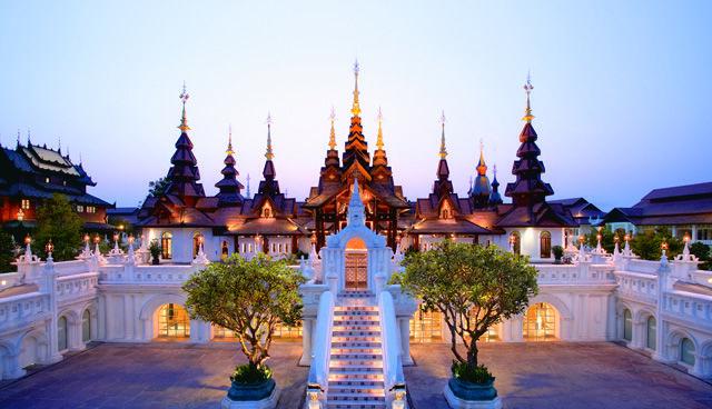 dhara dhevi, southeast asia, thailand castle lights