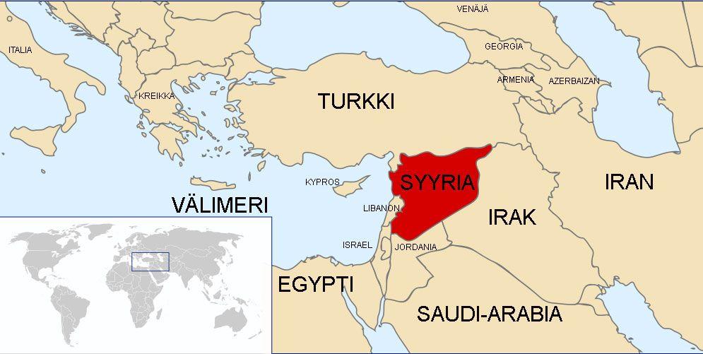 Syyria Kartta Syyria Syyria Kartta Kartta Syyria Egypti
