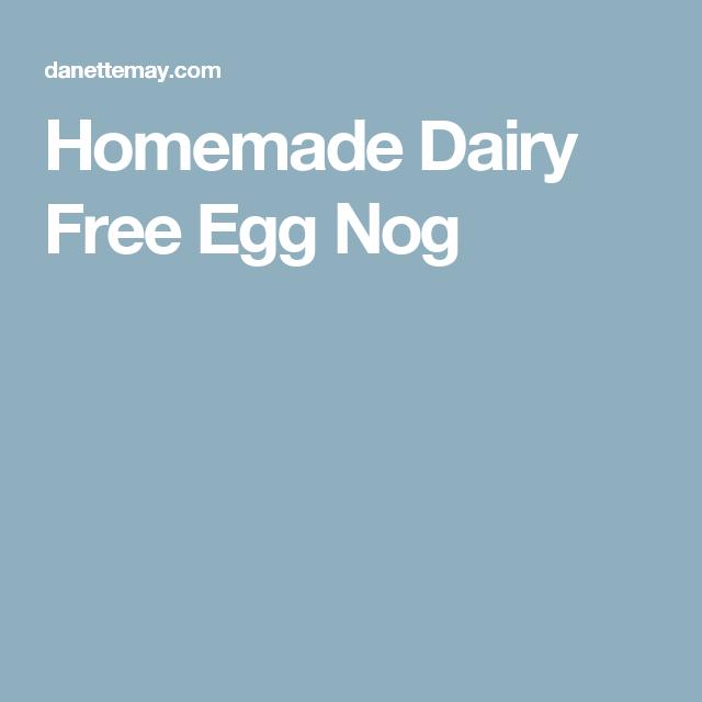 Homemade Dairy Free Egg Nog