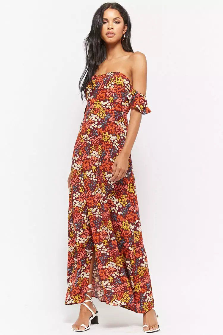 6df880a4537 Product Name Floral Print Off-The-Shoulder Maxi Dress