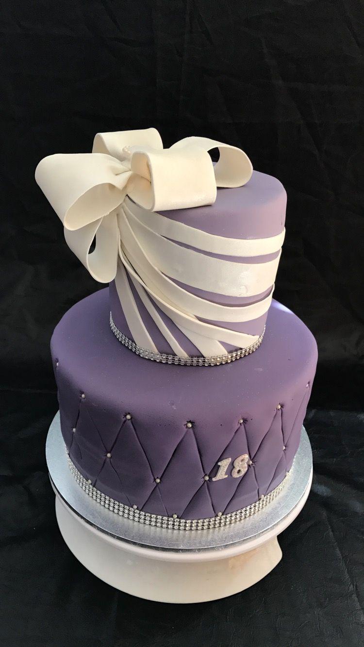 Elegant 18th Birthday Cake 18th birthday cake, Cake art