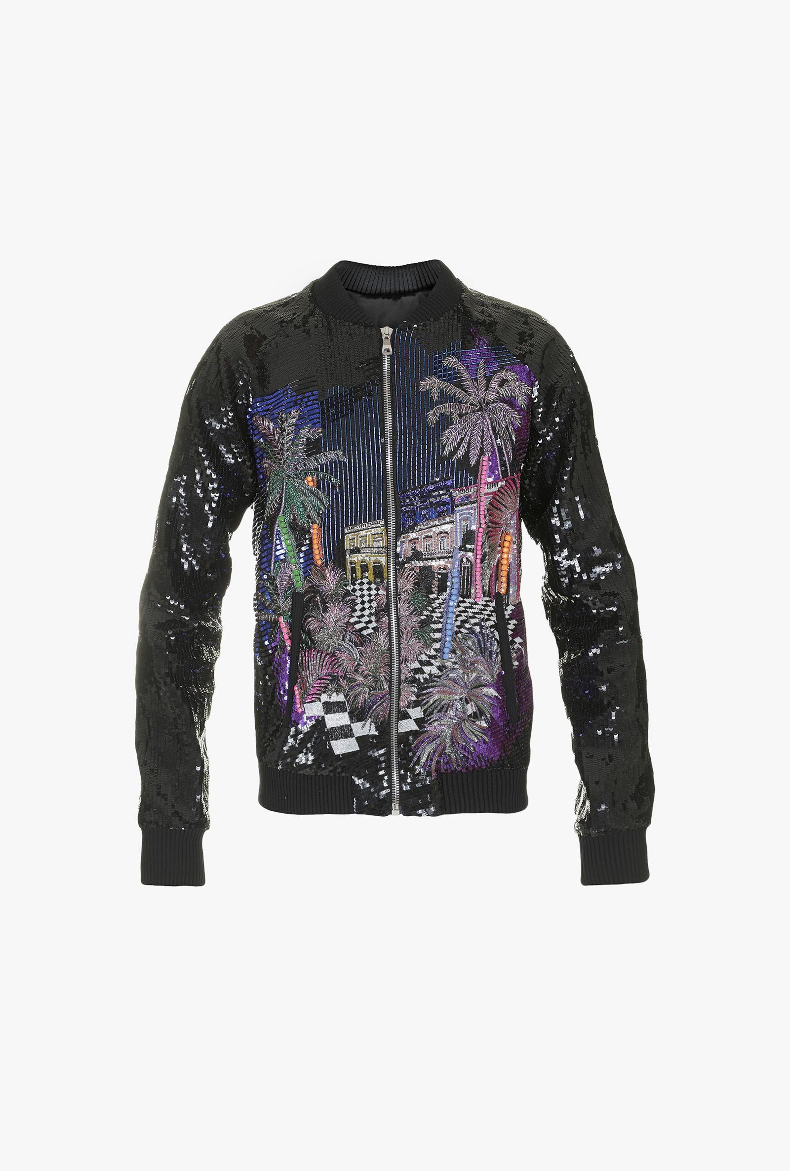 d1807f48a Embroidered Bomber Jacket for Men - Balmain.com | Fashion ...