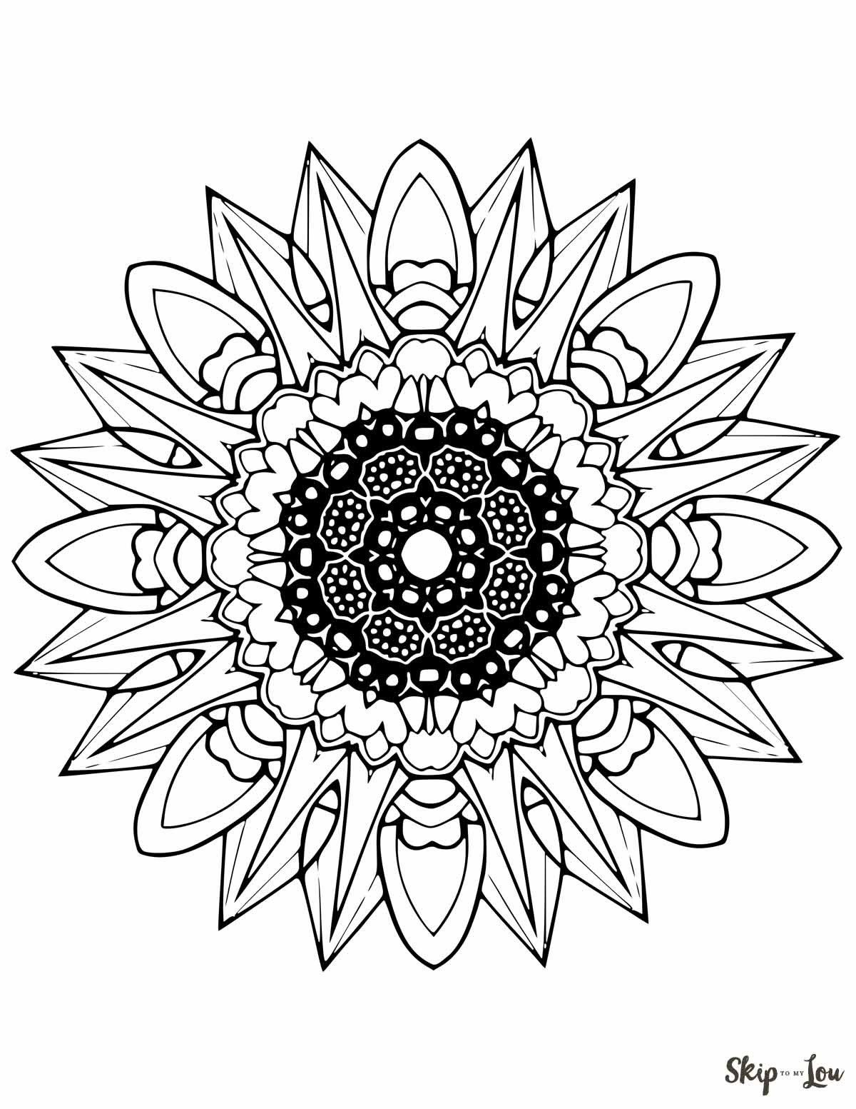 Free Mandala Coloring Pages Arts Crafts Mandalas Bordado