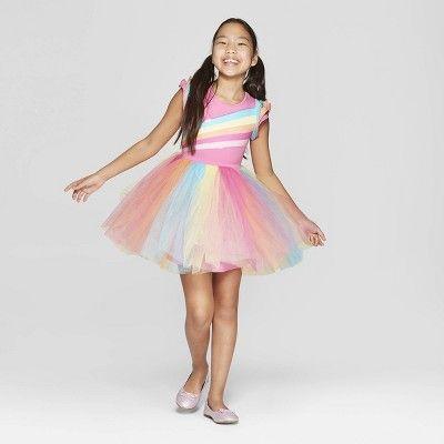 Girls\' Nickelodeon JoJo\'s Closet Tutu Rainbow Skater Dress ...