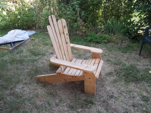 Fabriquer son fauteuil de jardin en bois Adirondack chair plans dans ...