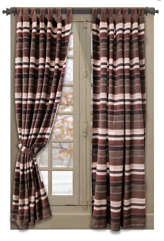 Desert Striped Curtain Panels - Your Western Decor