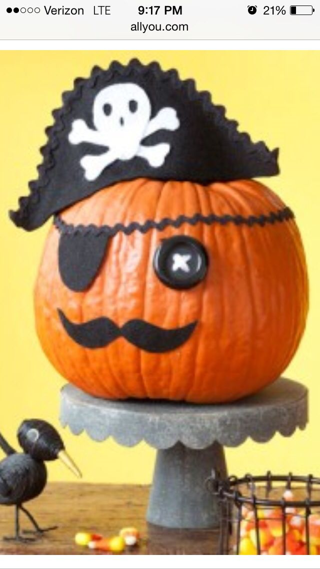 Pirate pumpkin Halloween!! Pinterest Pumpkin contest, Pumpkin - easy halloween pumpkin ideas