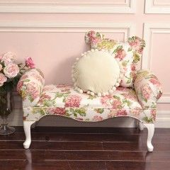 Charming Pink Rose Brooke Bench