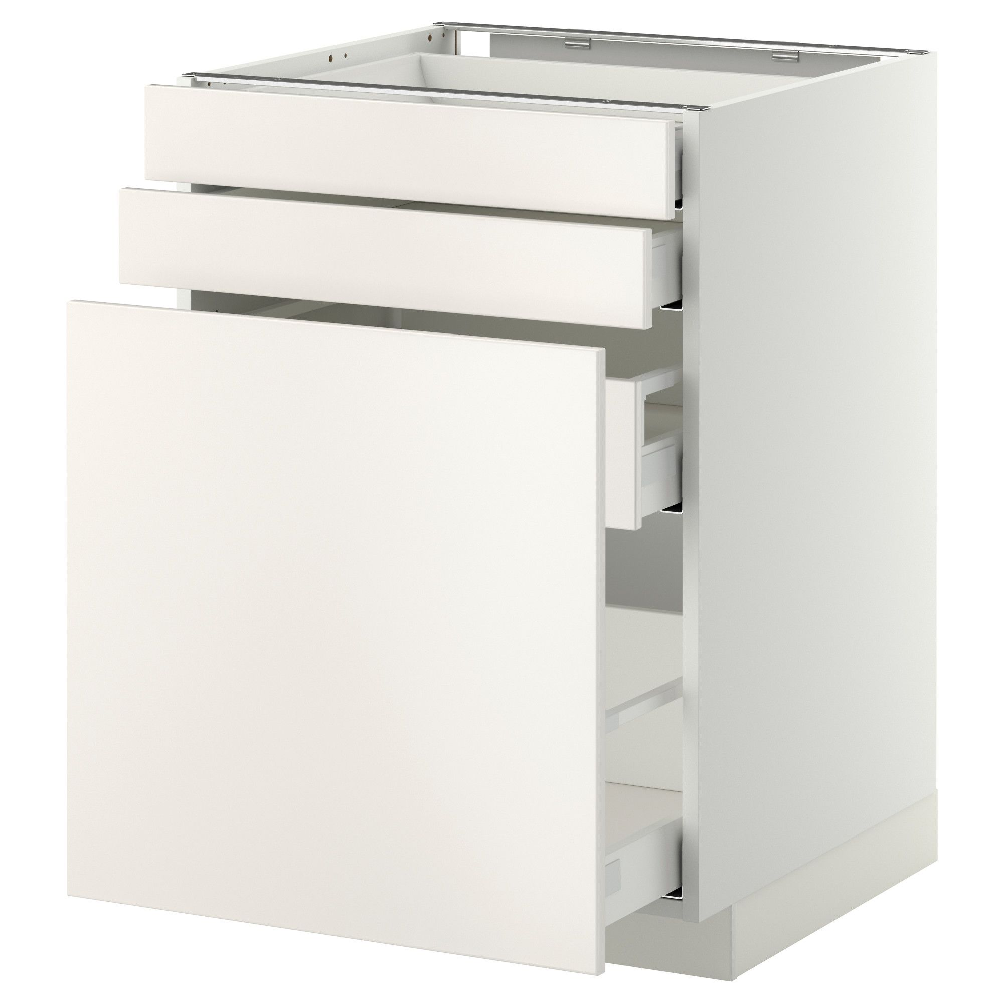 Metod maximera mobile cestelli dispensa 2 frontali bianco veddinge bianco 60x60 cm ikea - Ikea mobile dispensa ...