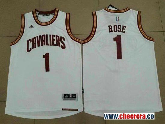 Men s Cleveland Cavaliers  1 Derrick Rose White Stitched NBA Adidas Revolution  30 Swingman Jersey 688c44d94
