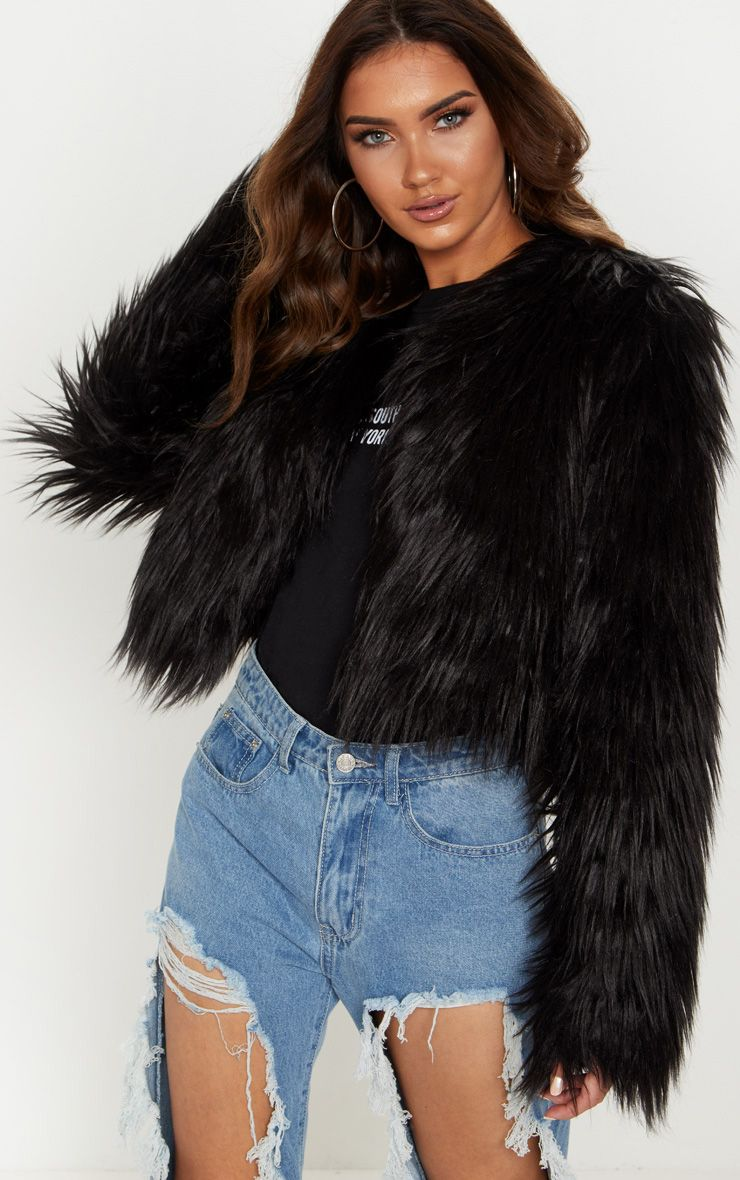 fluffy faux fur jacket