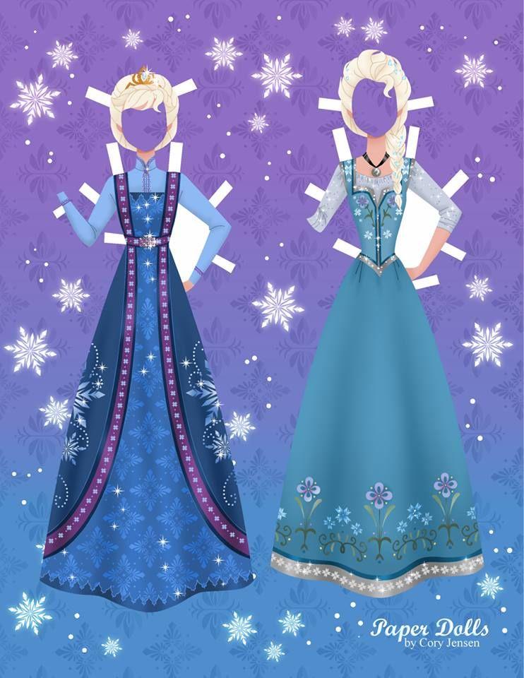 Disney\'s Frozen Printable Paper Dolls | Pinterest | Frozen ...