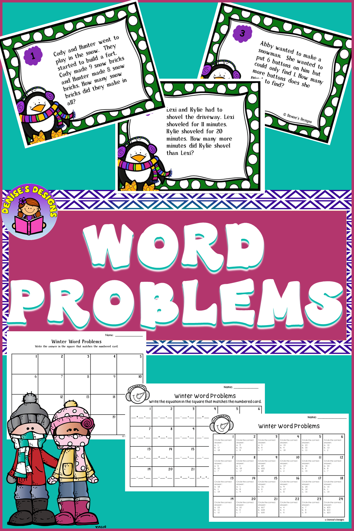 Word Problems Addition And Subtraction With Images