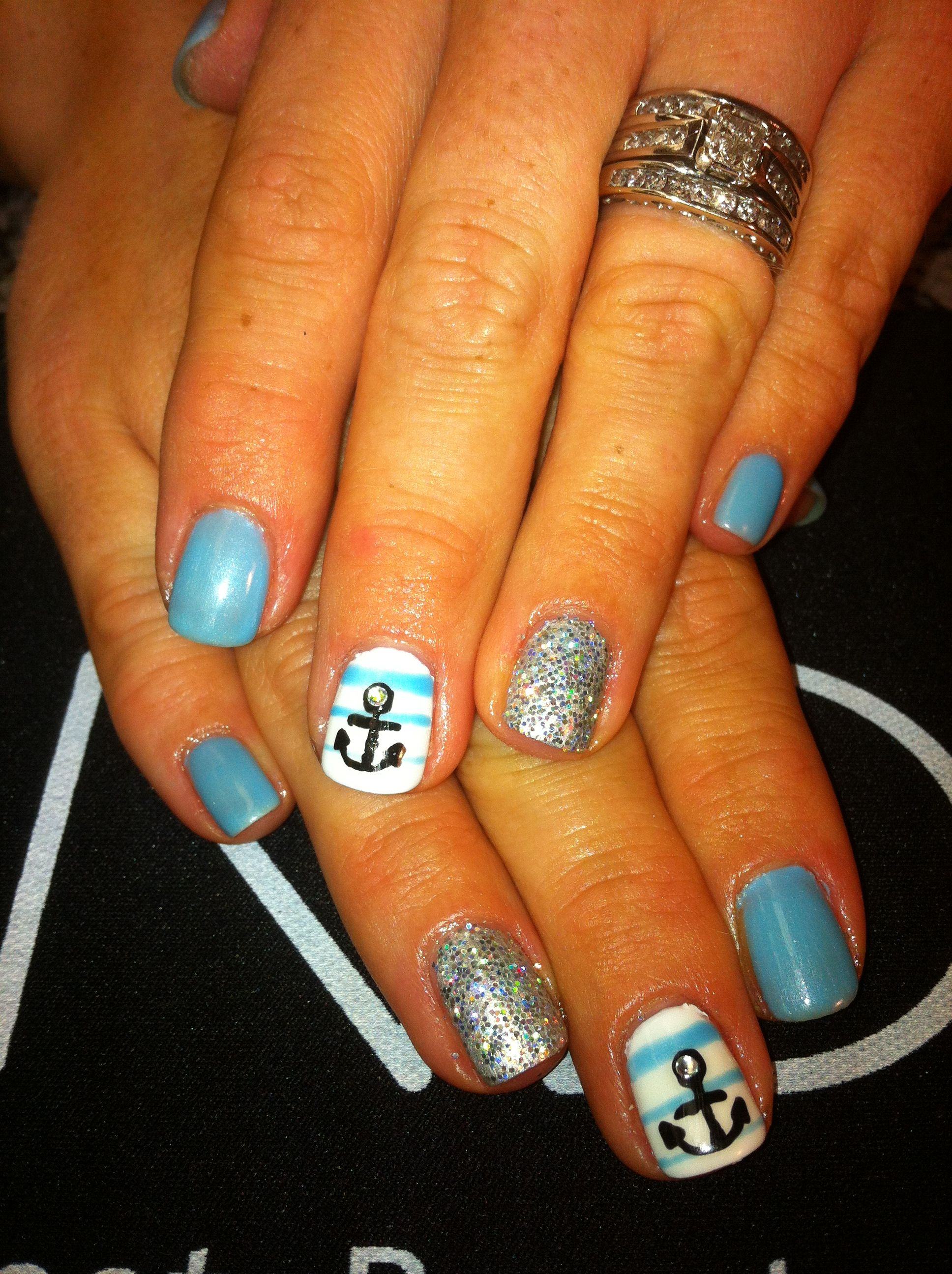 Anchor nail art Polished By Mel Indianapolis, In Follow me on ...
