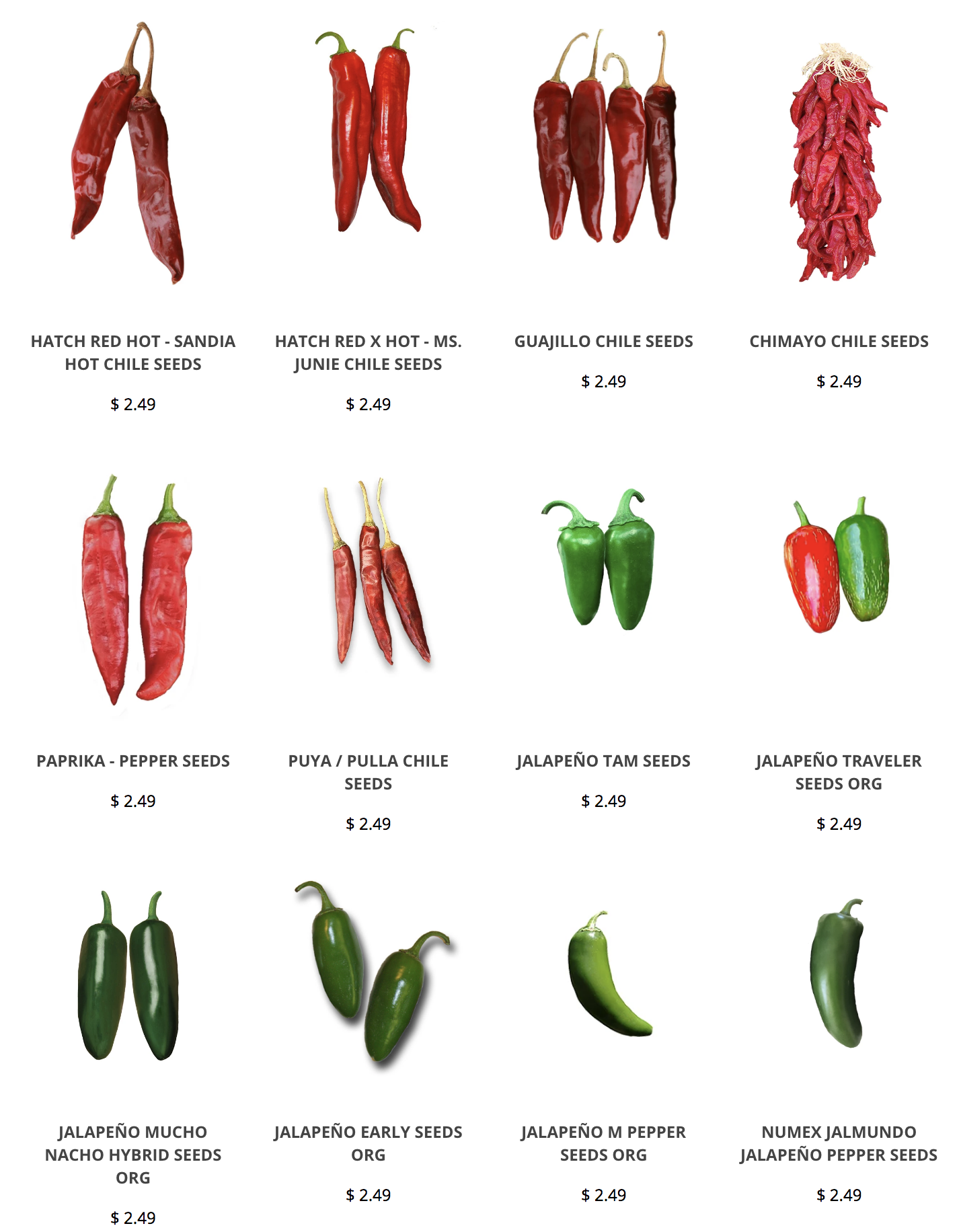 Get Seeds For The Famous Hatch Green Chile Poblano Big Jim And