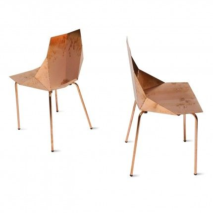 Copper Real Good Modern Chair By Blue Dot Not Really Upholstery, But.