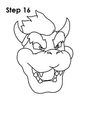 How To Draw Bowser Drawings Bowser Drawing For Kids