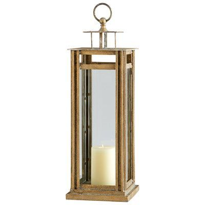 "Cyan Design Tower Iron and Glass Lantern Size: 30.75"" H x 9.75"" W x 9.75"" D"