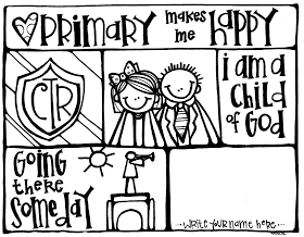 Melonheadz Lds Illustrating Primary Coloring Page Primary
