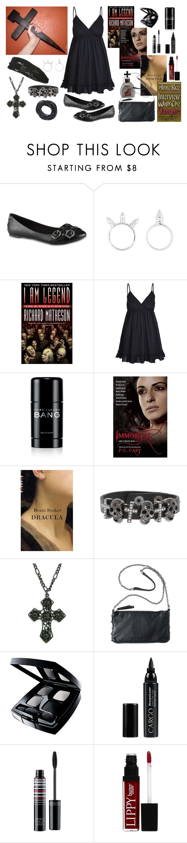 """Slayer Girl"" by aprilplayssp ❤ liked on Polyvore featuring Call it SPRING, Raxevsky, Marc Jacobs, MANGO, Chanel, CARGO, ArtDeco, Butter London and Wet Seal"
