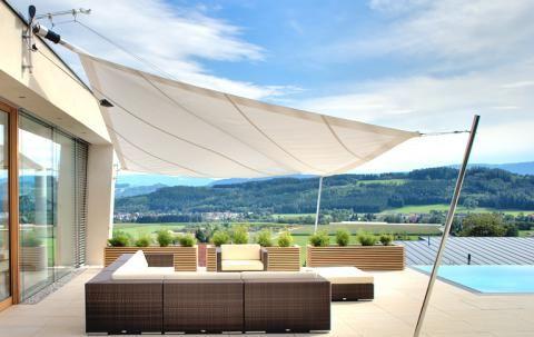 Sonnensegel für Terrasse und Balkon - [SCHÖNER WOHNEN]   Interior ...