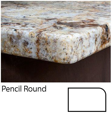 Pencil Round Granite Countertops Design Granite Countertops