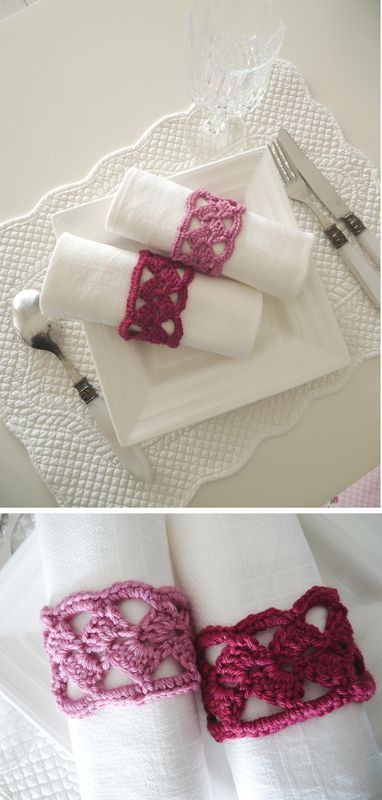 tuto jolis ronds de serviettes | crochet | pinterest | ronds de