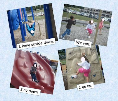 Shared writing... turn playground fun into a class book!