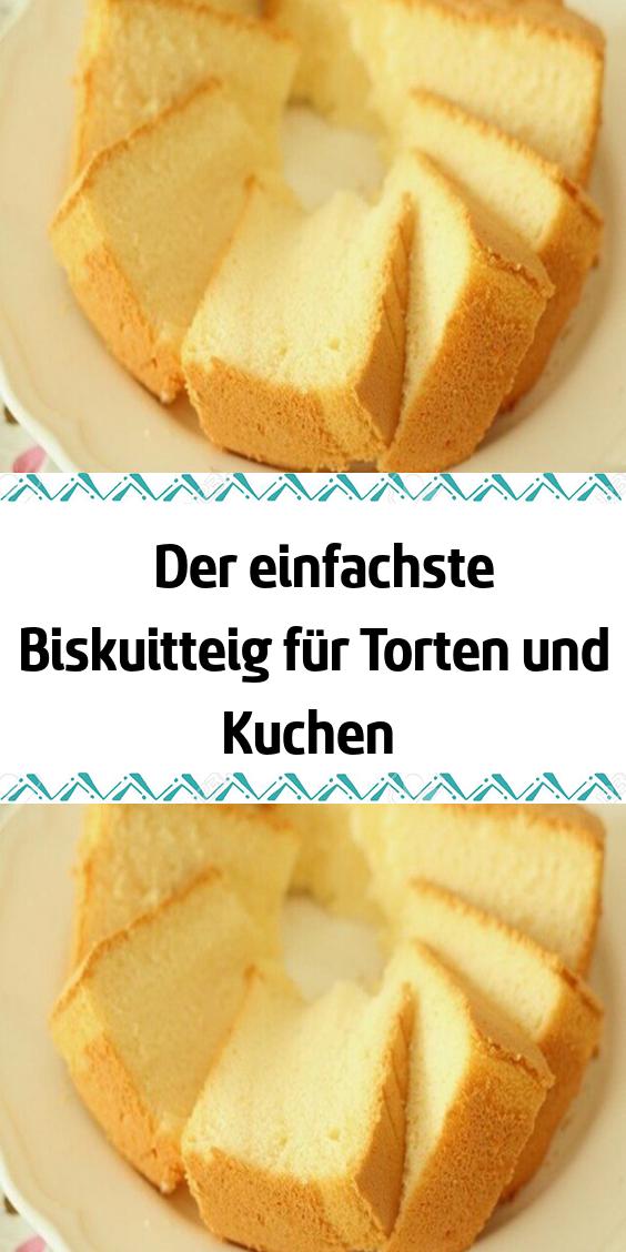 Der einfachste Biskuitteig für Torten und Kuchen #apfelmuffinsrezepte