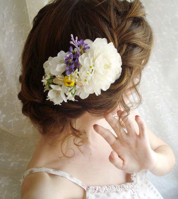 Floral Comb