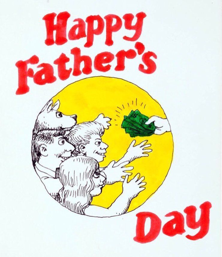 Original #RobertCrumb hand drawn #FathersDay card from 1966. #HappyFathersDay to all the awesome #Geek #Dads out there! #GeekDad #Dad #NerdyDad