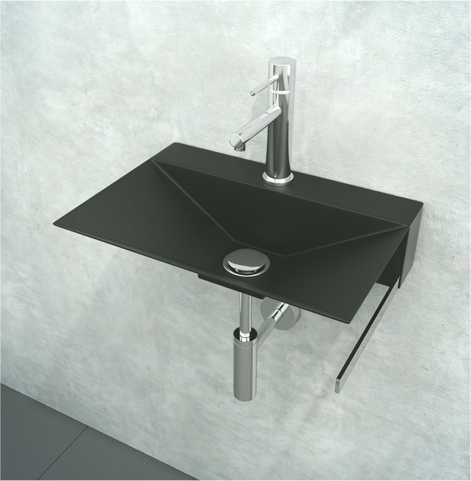 Minimal 15 3 4 Wall Bathroom Washbasin Sink Lavatory Vanity Stainless Steel With Towel Bar Bauernspleausedelstahl Bar Bathroom Towel Bar Wash Basin Sink