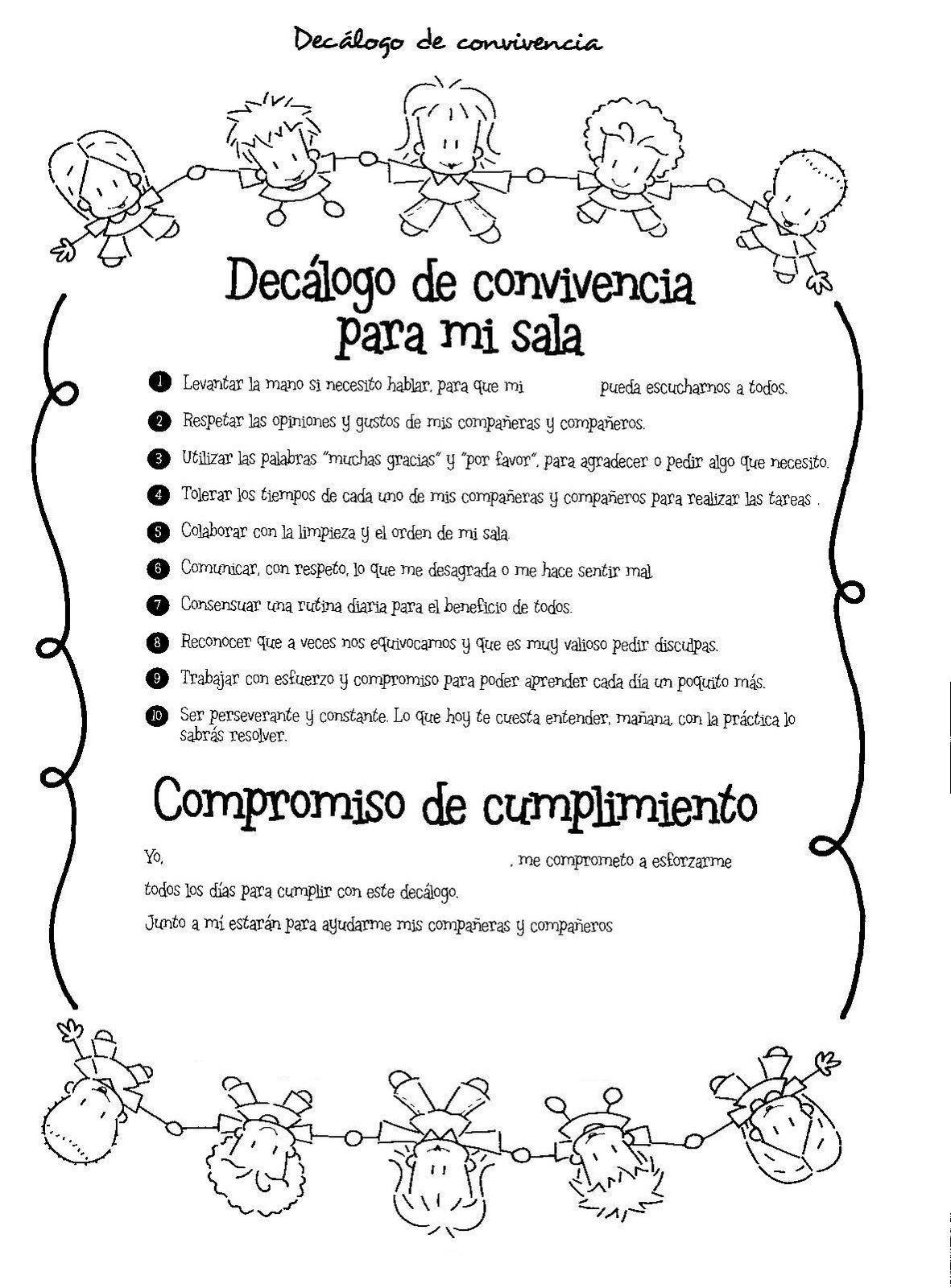 Menta Más Chocolate Recursos Y Actividades Para Educación Infantil Normas De Con Normas De Convivencia Actividades De Convivencia Cuaderno De Comunicaciones