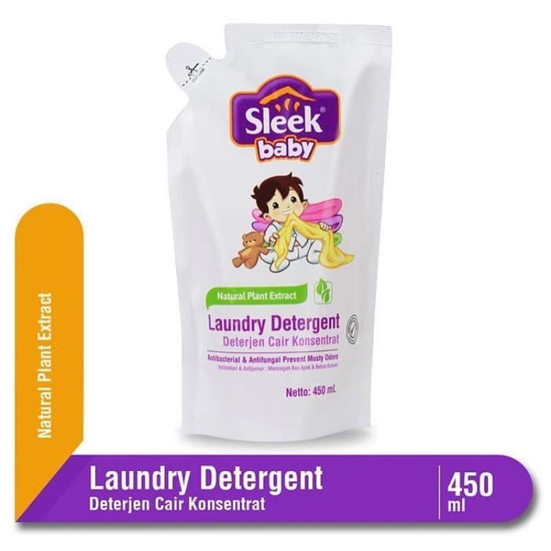 Sleek Baby Laundry Detergent Refill 450ml Sabun Cuci Baju Yang