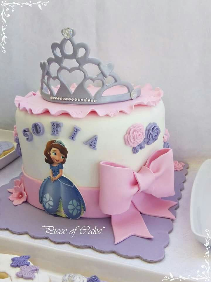 Cool Sofia The First Cake With Images Sofia The First Birthday Cake Birthday Cards Printable Opercafe Filternl
