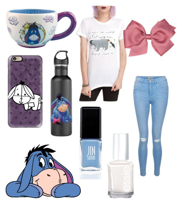 """""""Eeyore"""" by sparklequeen101 ❤ liked on Polyvore featuring Disney, Casetify, New Look, JINsoon and Essie"""