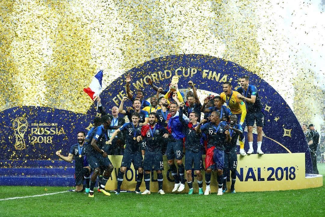 Congratulations France Champions Fifa World Cup Final 2018 Worldcup2018 Russia2018 World Cup World Cup Trophy World Cup Final
