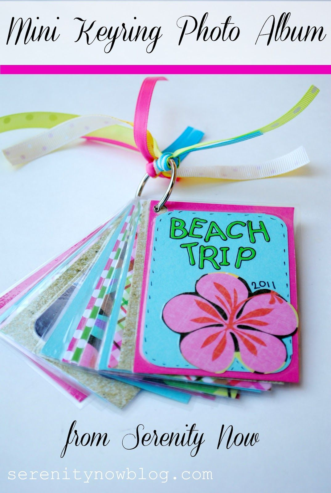 Mini keyring photo album craft from serenity now crafts