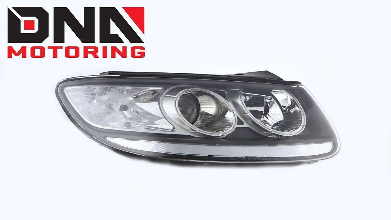 Dna Motoring 07 12 Hyundai Santa Fe Black Clear Headlights Hyundai Santa Fe Hyundai Santa Fe