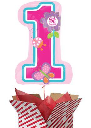 Large Sweet 1st Birthday Girl Balloon